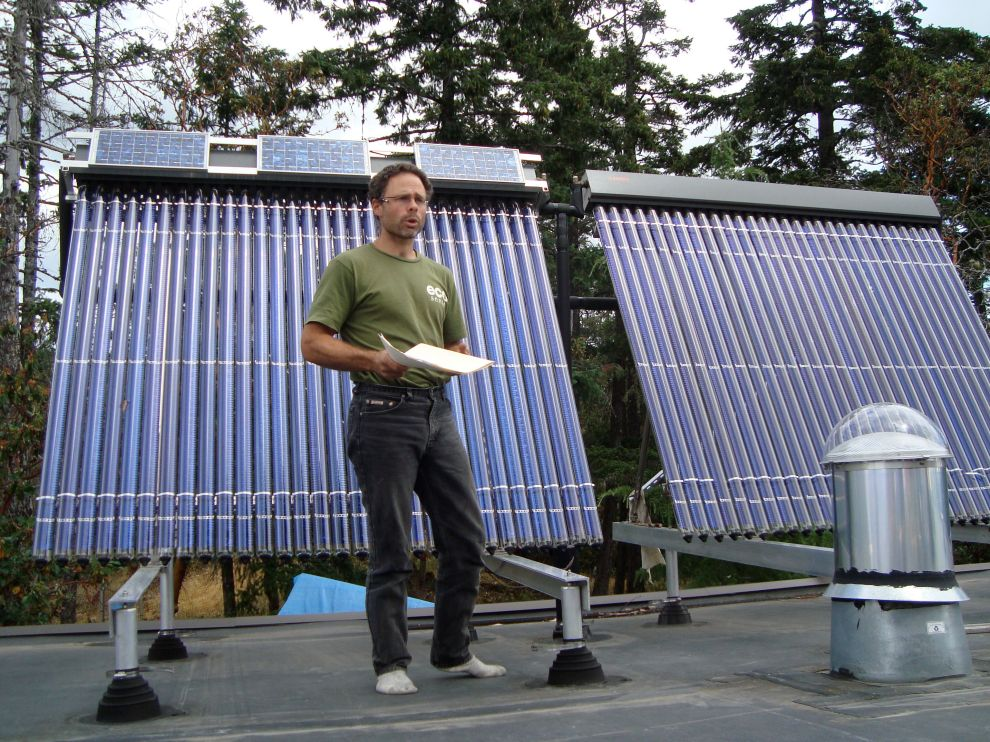 Gord teaching about Solar Hot Water