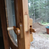 One of many types of home made wooden door latches