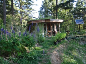 Eco-Hut - plant sales office and example of off-grid tiny home