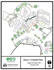 The Eco-Sense garden map (zone 1 and 2)