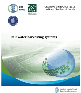 CSA Rainwater Harvesting Standards Cover